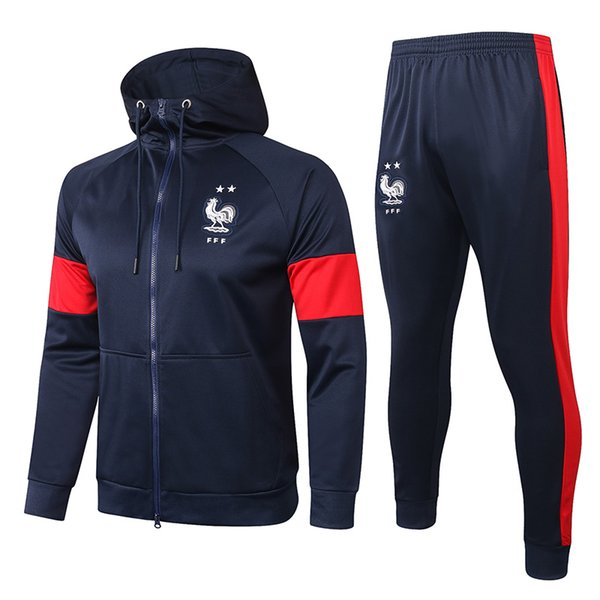 France Drak Blue Hoodies Jacket