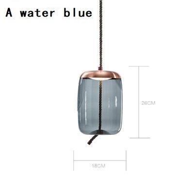A água azul