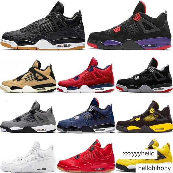 best selling OG Bred 4 4s IV NRG Raptors Mushroom Mens Basketball Loyal Blue Cool Grey Singles Day Sports Sneakers
