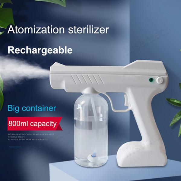 best selling Handheld Cordless Nano Sprayer Cold fogger machine sprayer disinfecting fogger spray Disinfection Anion blue light nanometer spray gun