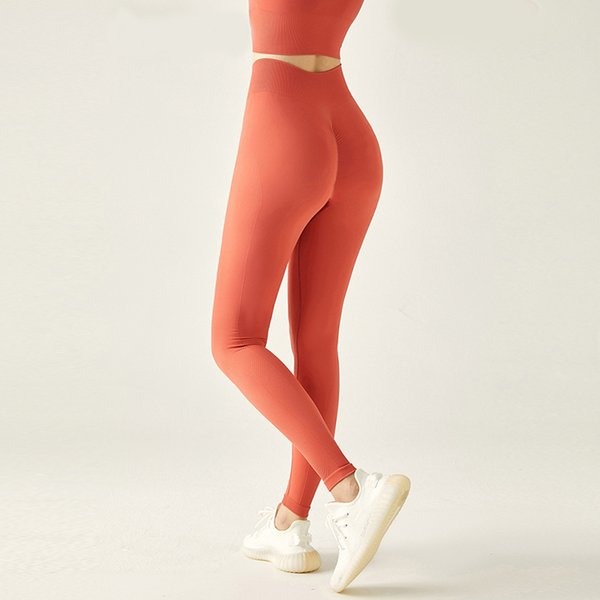 best selling Fitness Pants High Waist Naked Tights Peach Hip Yoga Pants New Women's Moisture Wicking High Elastic Sports Suit