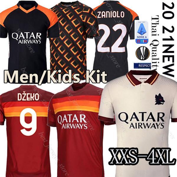 best selling Thai AS maillot roma soccer jersey DE ROSSI DZEKO ZANIOLO rome TOTTI PEROTTI jerseys 19 20 21 football kit shirt 2020 Men + Kids 4XL