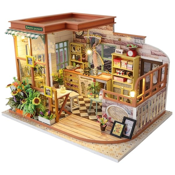 top popular Cutebee Casa Doll House Furniture Miniature Dollhouse DIY Miniature House Room Box Theatre Toys for Children Casa Dollhouse S02A Y200413 2021