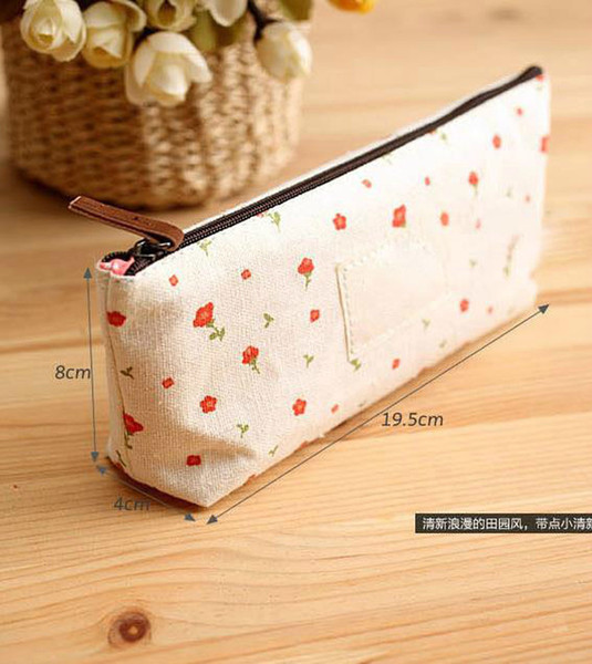 best selling mini cute Cosmetic bag coin purses flower floral canvas key clutch bags wallet 002