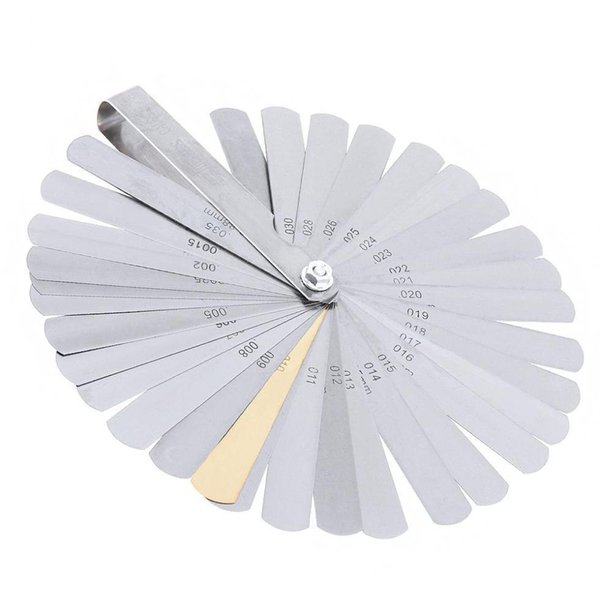 top popular 32 Blades Combination Measuring Tool Feeler Gauge Metric   Imperial Gapped Filler 0.04-0.88Mm Thickness Gage Wt3Vv 2021