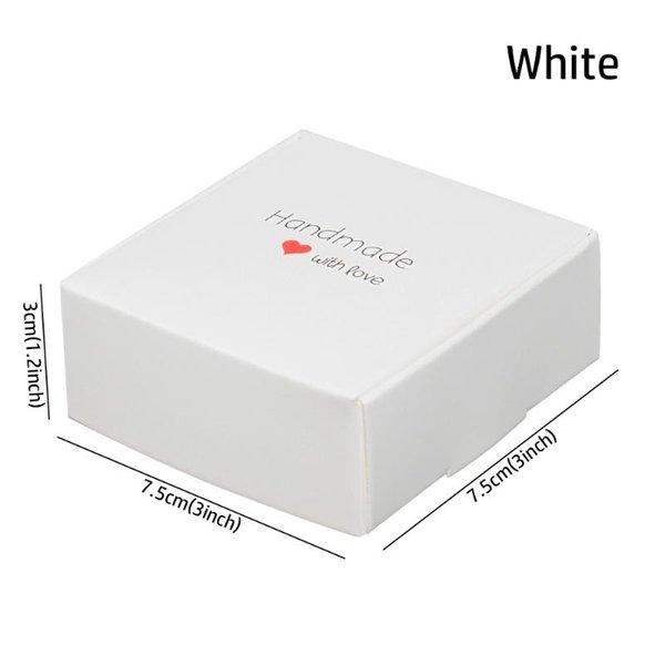 7.5x7.5x3cm Weiß
