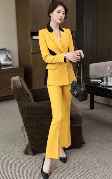 Yellow coat pants
