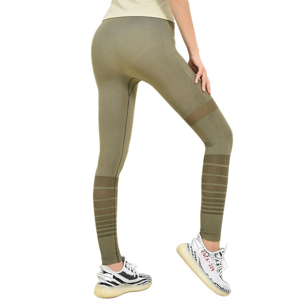 best selling Hot Sale! High Waist Hip Fitness Pants Women's Elastic Tight Yoga Pants Summer Thin Quick-drying Running Pants Peach Hips