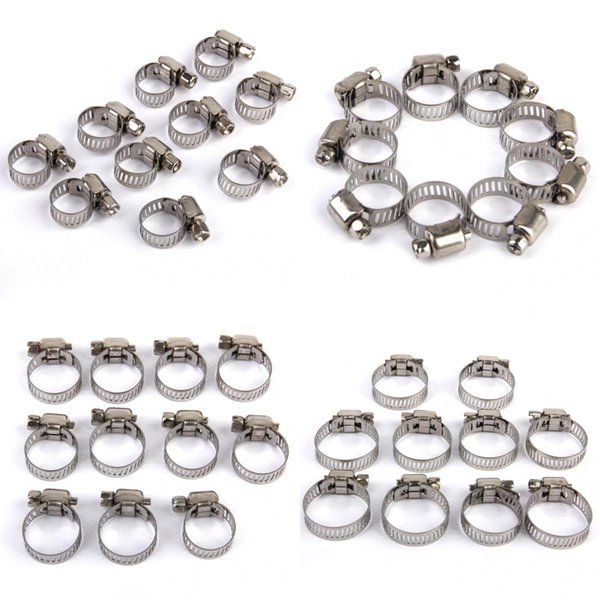 top popular 40Pcs Adjustable Fuel Petrol Pipe Hose Clips Stainless Spring Clamp 8-25mm 2021