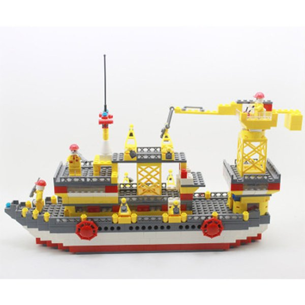 top popular 498pcs Boat Cruiser Puzzle Toy Assembly Building-block Toys Compatible with inglys DIY Educating Children Christmas Gifts 2020