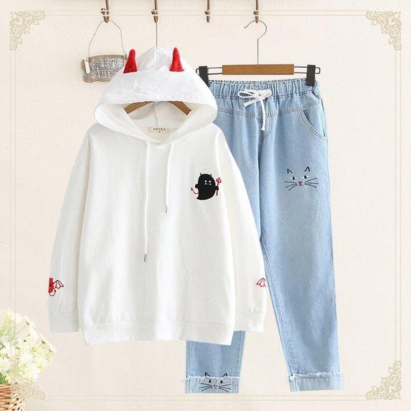 Üst Beyaz + Işık Jeans