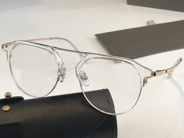 Clear frame transparent lens
