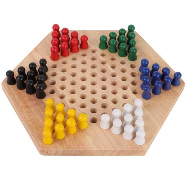 Wholesale chinese game wooden for sale - Group buy heap Chess Sets Chinese Checker Game Set Wooden Educational Board Kids Classic Halma Chinese Checkers Set Strategy Family Game Pieces bac