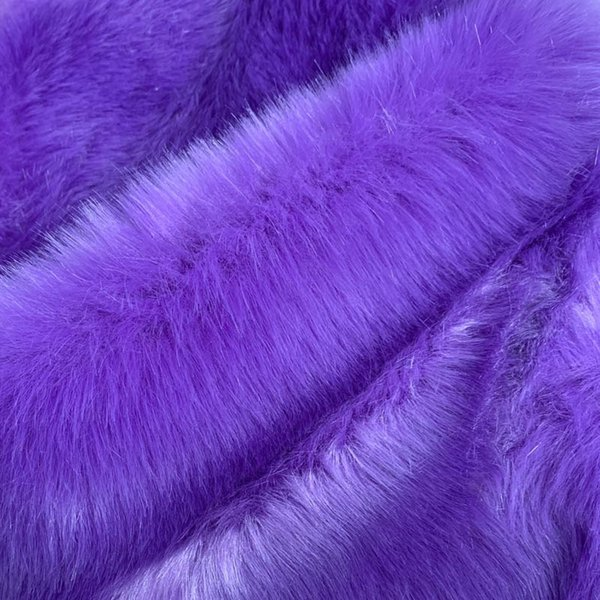 Purple Fox Fur Coat