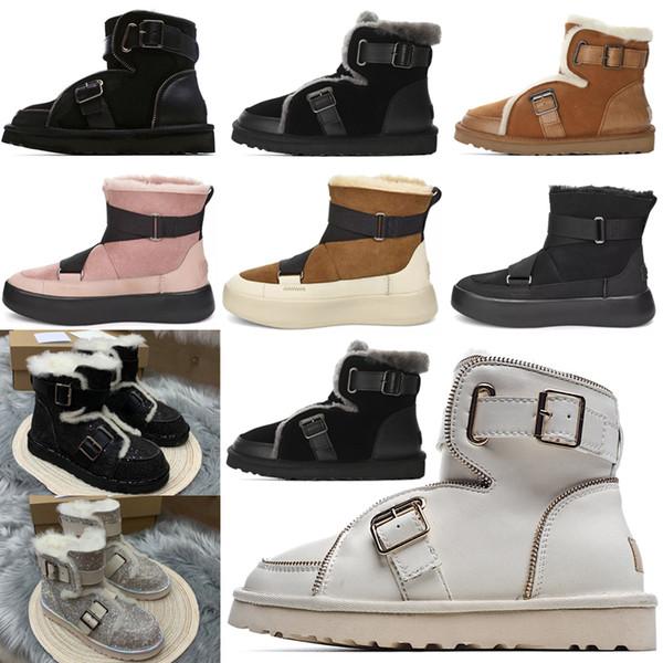 best selling 2020 Designer women australia australian boots women winter snow fur furry satin boot ankle booties fur leather outdoors shoes #op