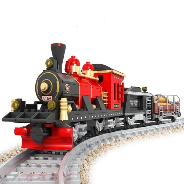 top popular Train Series 25705 Educational Science and Technology Toys plastic small granule Building blocks 8 track assembling Toy Wholesale 2020