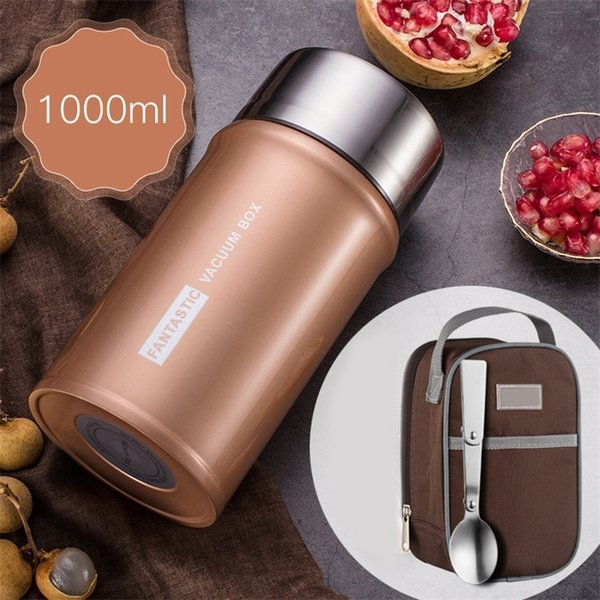 best selling 24 Hour Vacuum Insulated Bento Box 304 Stainless Steel Thermal Food Warm Containers Portable Leakproof Lunch Box Kids Large Set 201210