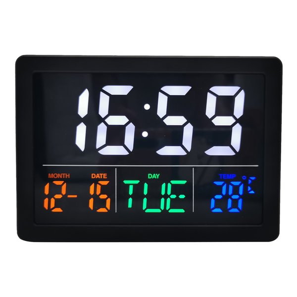 led digital alarm clock bedside clock nightstand decors gift for friends, display time, date, week and temperature at same time