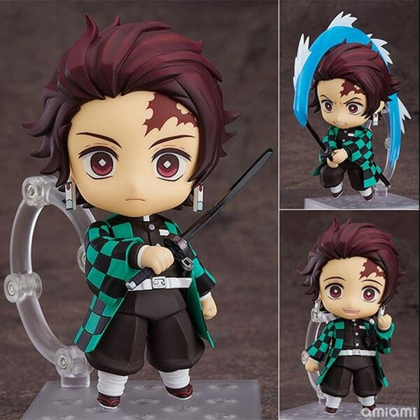 best selling Kimetsu no Yaiba Tanjirou Action Figure 1193# PVC Toy Anime Demon Slayer Tanjirou Figurine Cute Toys 100mm 1008