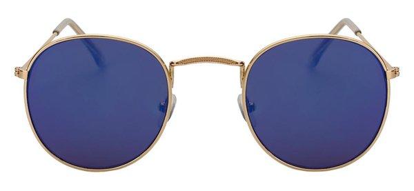 Gold w blue mirror