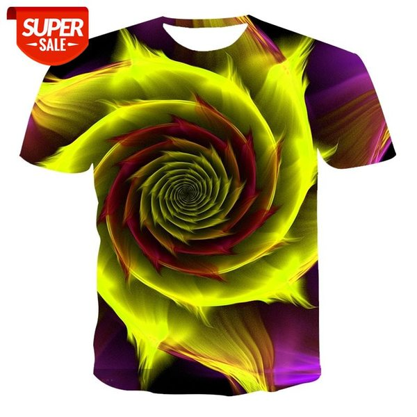 top popular 2020 new men's 3d printed quick-drying summer shirt T-shirt bright and bright colors men's T-shirt large size short-sleeved funn #Rp9C 2021