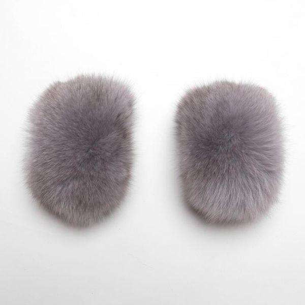 Piel de zorro gris claro
