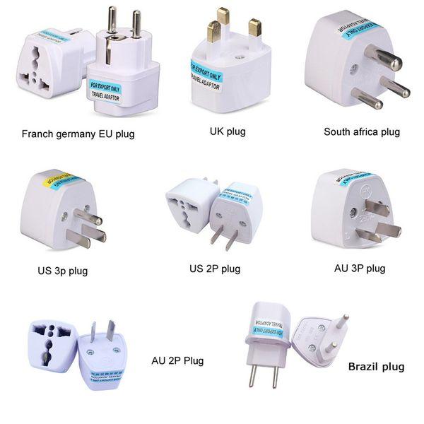 top popular Universal Kr american european AU EU To US UK Power plug adapter USA Israel Brazil Travel Adapter plug converter japan Korea 2021