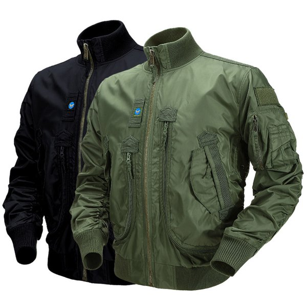 best selling Outdoor Sports Gear Jungle Hunting Woodland Shooting Coat Tactical Combat Clothing Outdoor Pilot Paratrooper Jacket P05-220