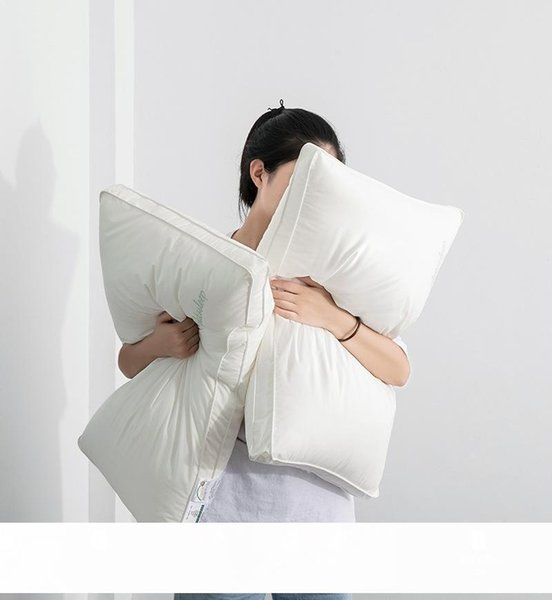 top popular High-End Hotel Pillow Class a Maternal and Child Grade Antibacterial Anti-Mite Pillow Core 60S All-Cotton Pillow Single Double Soft Neck Pil 2021