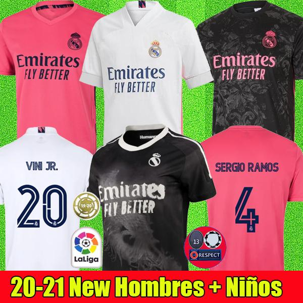 top popular soccer jerseys real Madrid 20 21 HAZARD JOVIC BENZEMA human camiseta de futbol race 2020 2021 VINICIUS RODRYGO MODRIC football shirt 2020