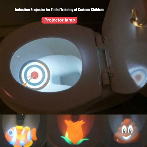 best selling Toilet Projector Light Motion-activated Sensor for 4 Different Themes Children Toilet Training LJ201110