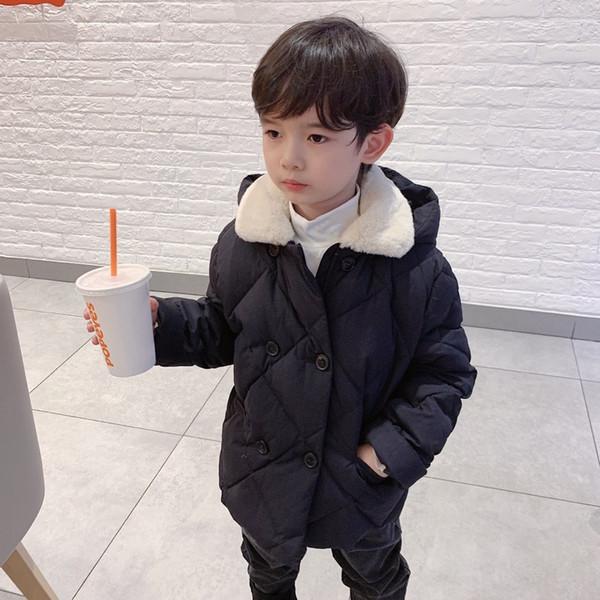 top popular New Winter Girls Jackets Fashion White Duck Down Coat Kids Boys Thick Warm Buttom Short Coat Zipper Children Winter Outerwear 2021