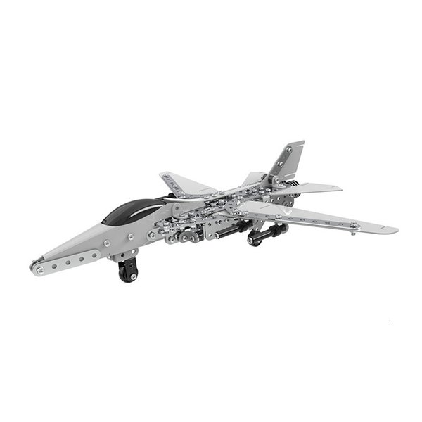 best selling Free shipping 452pcs Educational Jigsaw 3D Metal Assembly Model Building Kits Aircraft Heavy Lift Helicopters Intelligent Construction Set