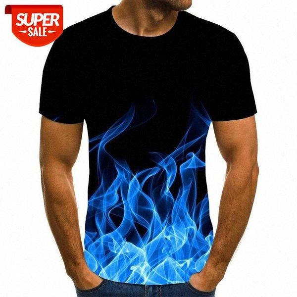 top popular Camiseta de manga corta con estampado de colores en 3D estilo Casual verano con estampado moda para hombre #cw2j 2021