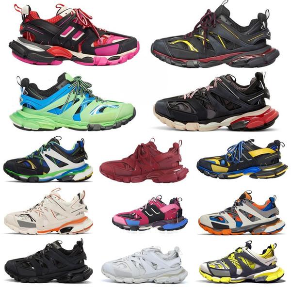 top popular Top factory Paris 3.0 Track s Triple s Clunky Sneakers Grey Orange mens Blue Version Designer women men Sport shoes Sneaker Size 36-45 2021