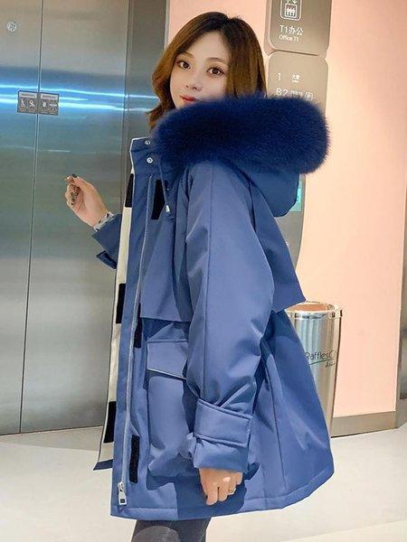 Blue Faux Fur