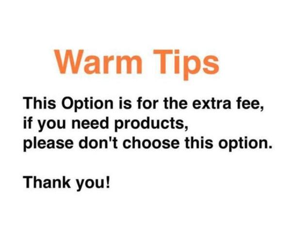 Option for extra fee