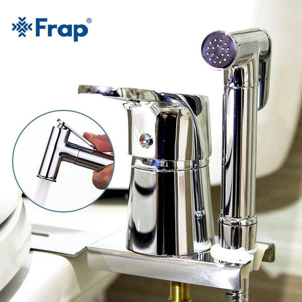 best selling FRAP Bidets new chrome solid brass handheld bidet toilet portable bidet shower set with hot & cold water bidet tap C0127