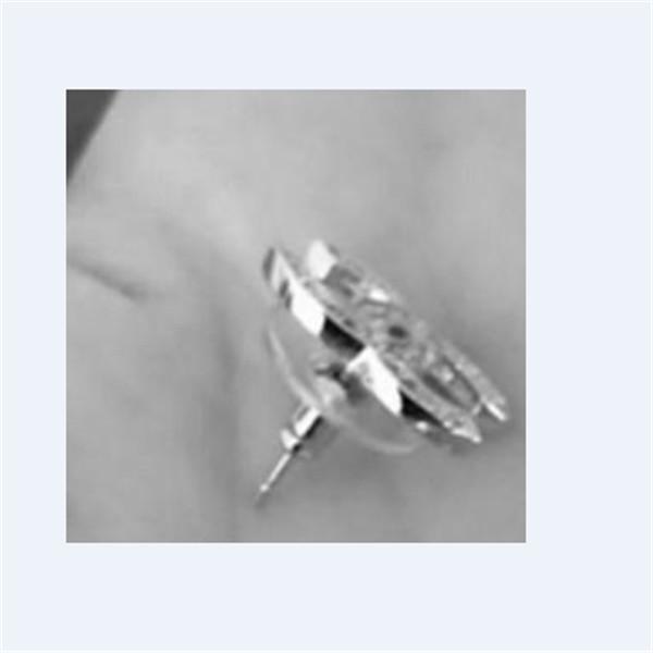 top popular Earrings Jewelry Fashion Women Mens Earrings Hip Hop Diamond Stud Earings Iced Out Bling Rock Punk Round Wedding Gift 03203 2020