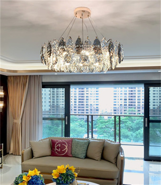 top popular Light  crystal chandelier post-modern chandelier lighting living room simple pendant lights bedroom stylish dining room lamps 2021
