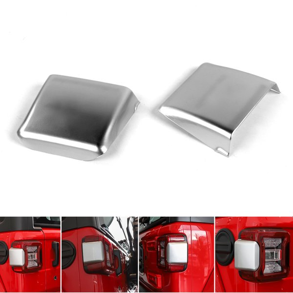 top popular Areyourshop Car 2x Taillight Cover Pad Sticker Exterior Accessories Fit For Wrangler JL 2018+ Car Auto Accessories Parts 2021