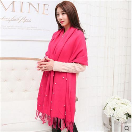 scarf women rose red