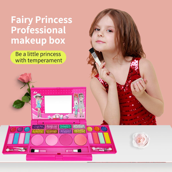 best selling Storage Box Notebook Makeup Set Children Girl Professional Makeup Play House Toy Makeup Beautiful and Safe