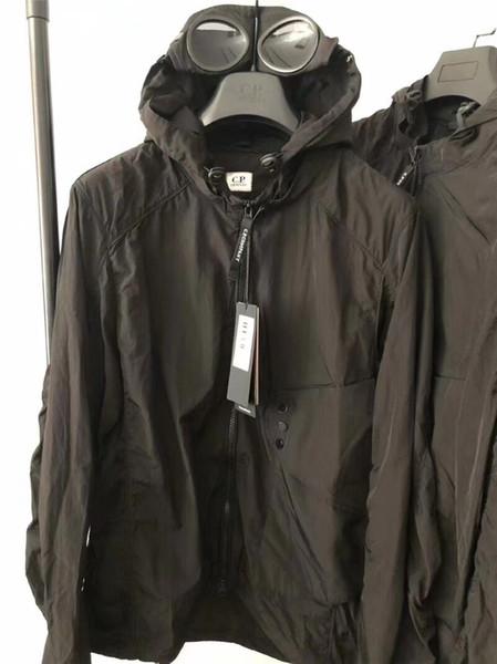 top popular Metal nylon two glasses GOGGLE men jacket casual CP hoodies outdoor windbreak black army greensize M-XXL 2021