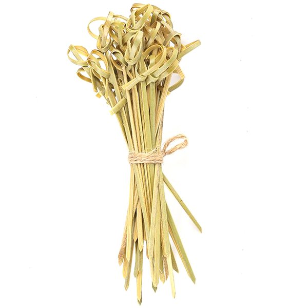 best selling Skewers Dining Knot Bamboo Kitchen Accessories Stick Handmade Eco-friendly Tableware Fruits Household Restaura