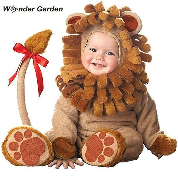 best selling Wonder Garden Infant Toddler Baby Girls Cute Little Lion Animal Halloween Cosplay Costume Purim Holiday Costume