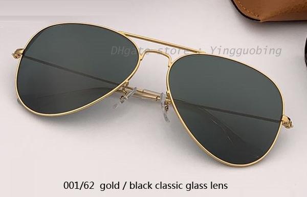 001/62 الذهب / العدسة السوداء الكلاسيكية