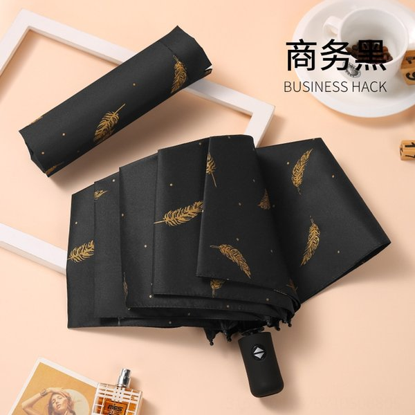 Automatische Vergoldung-Feder-Regenschirme # 66240