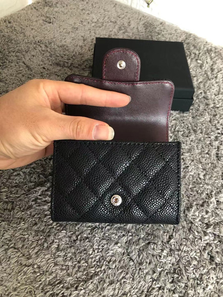 top popular An Instagram blogger has recommended a designer wallet for women's card bags with classic plies and high quality leather clasp 2021