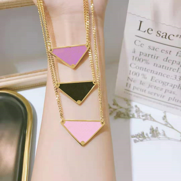 top popular Triangle necklace metal alloy necklace letter P necklace gift party wedding for women 2021